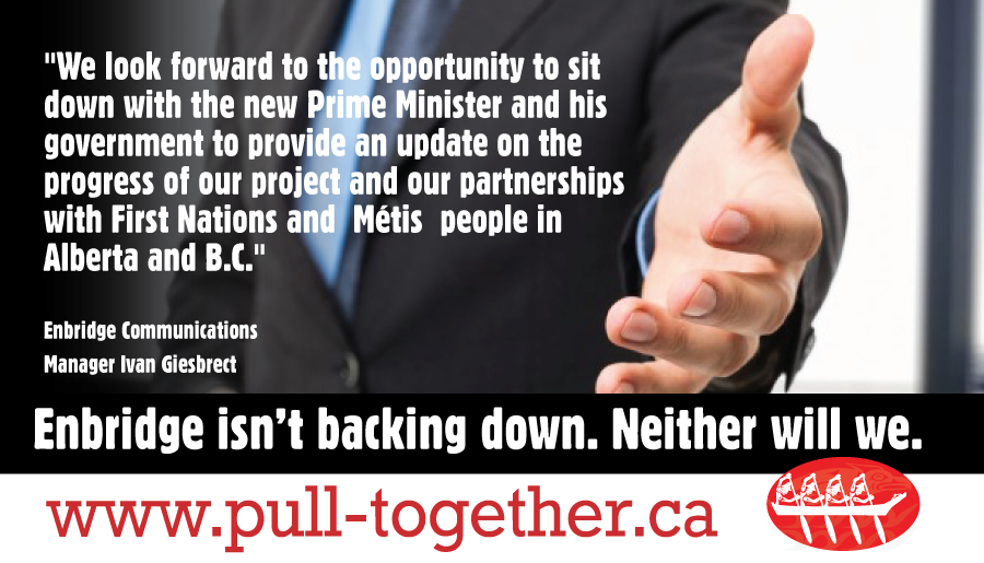 Enbridge isn't backing down. Neither are we.